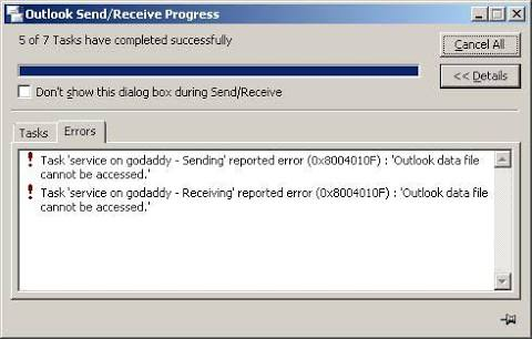 Fix 0x8004010F: Outlook Data File Cannot be Accessed