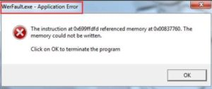 [Fixed] WerFault.exe Error in Windows 10, 8, 7