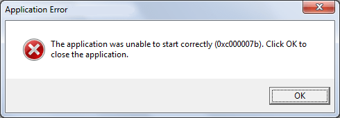 Fix 0xc000007b Error: The application was unable to start