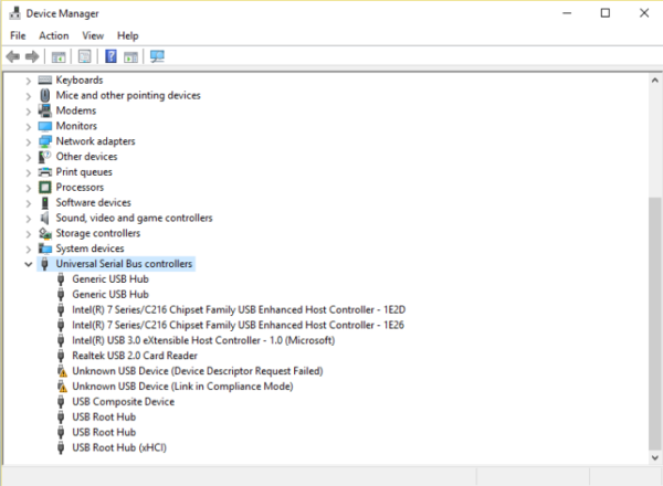 Fix Device Descriptor Request Failed in Windows 8/8 1/10