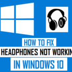 Fix headphone jack not working windows 10