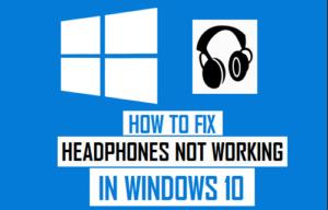 Fix headphone jack not working windows 10