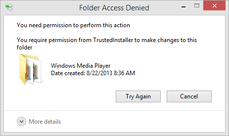 Folder access denied Windows 10