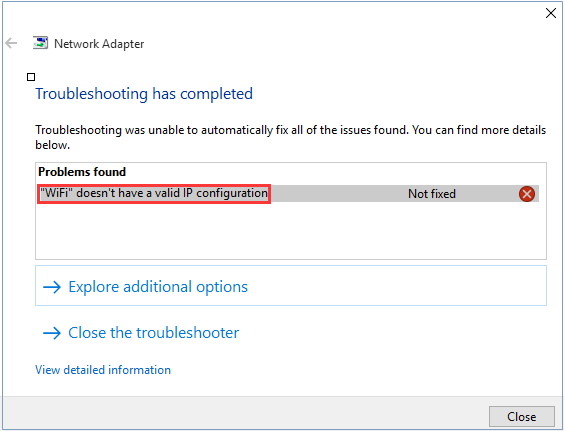 FIXED] Wifi Doesn't Have a Valid IP Configuration on Windows 10
