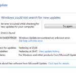 Fix Windows Update 0x80070020 Error [5 Methods]