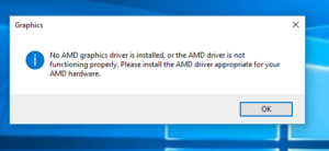 [FIXED] No AMD Graphics Driver is Installed Error