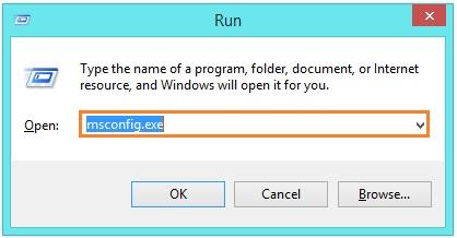 run msconfig.exe