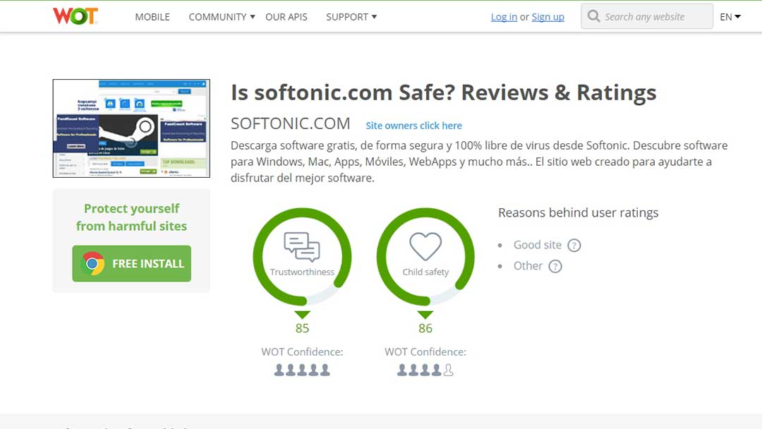 is softonic safe?