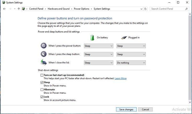 fast up Windows 10 shutdown