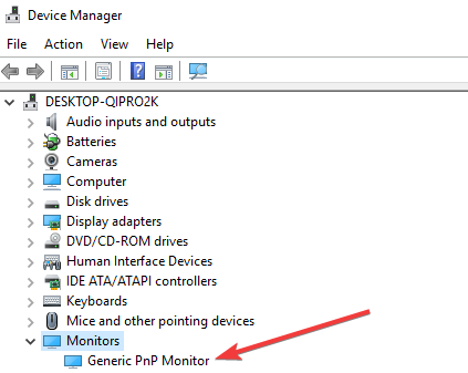 Generic pnp Monitor enable to fix brightness issue in Windows 10