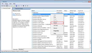 Windows audio failed to play test tone in windows