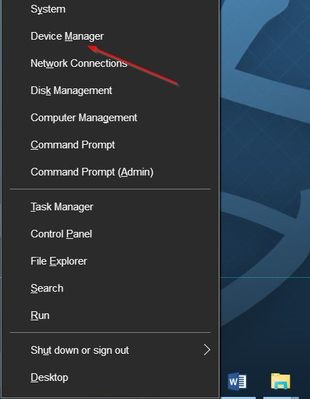 device manager update driver to fix brightness issues