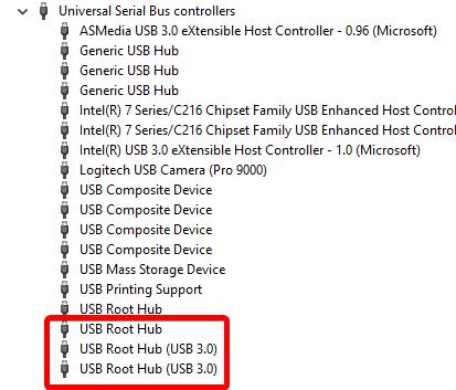 repeat usb root hub usb ports not working in windows 10