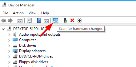 scan for hardware changes failed to play test tone in windows