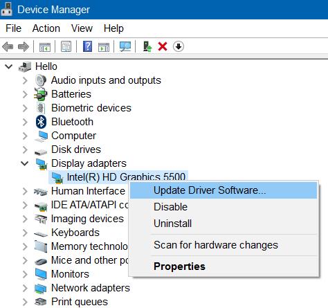 update graphics driver to fix brightness not working