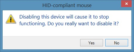 confirm disable touchpad in windows 10
