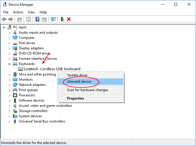 device manager alt tab not working in windows
