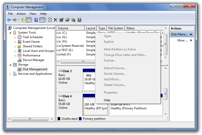 disk management EFI partition disabled in Windows delete efi partition