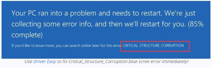 critical structure corruption