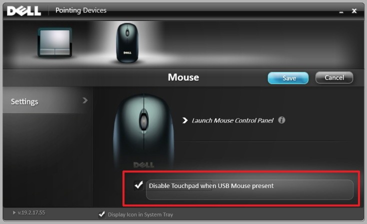 manufacturer support software dell disable touchpad windows 10