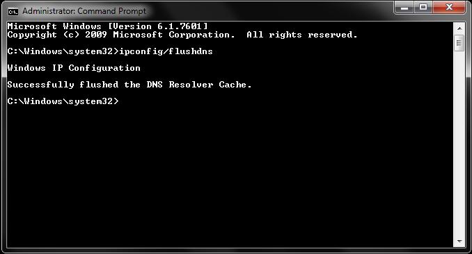 flush dns cache err_spdy_protocol_error