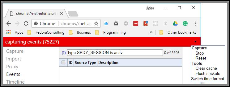flush sockets net internals err_spdy_protocol_error
