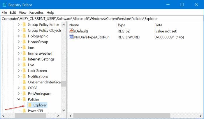 registry enable setting windows 10 setting not opening
