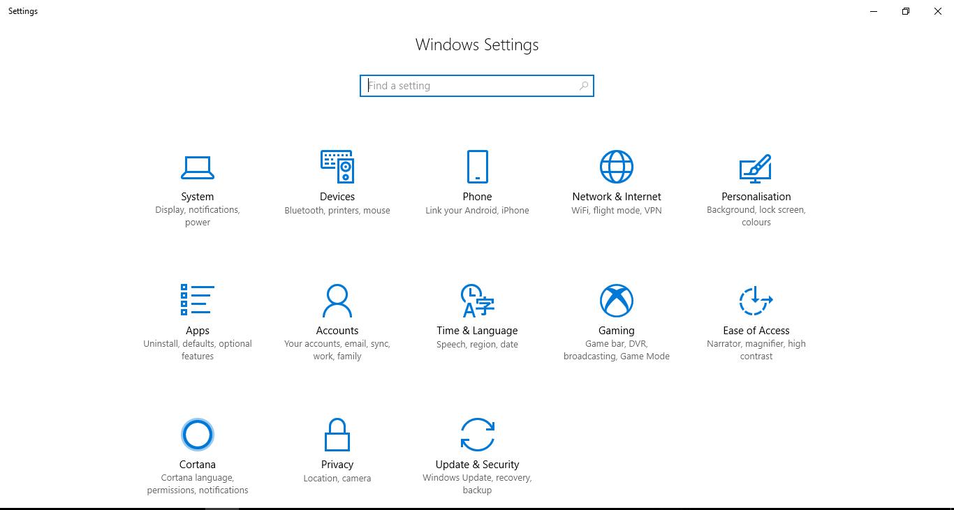 windows 10 settings not opening