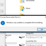 [FIX] Windows was Unable to Complete the Format Error