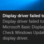 Fix: Display Driver Failed To Start Error on Windows 10