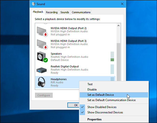 Headphones not shown on windows 10?